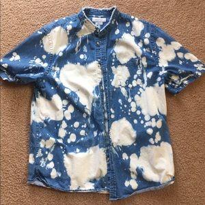 Urban outfitters Men's acidwash denim button up